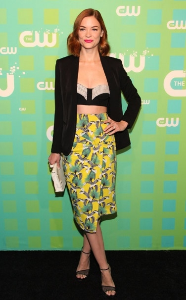 Jaime King Chic in Yellow