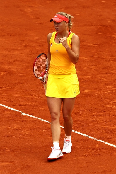 Caroline at the French Open