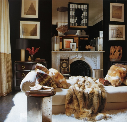 A Gorgeous Room Incorporating Faux Fur