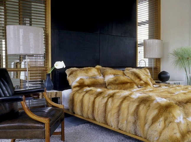 Faux Fur in the Bedroom