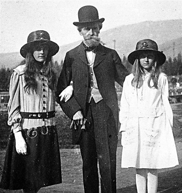 Huguette (Right) with Her Dad and Sister