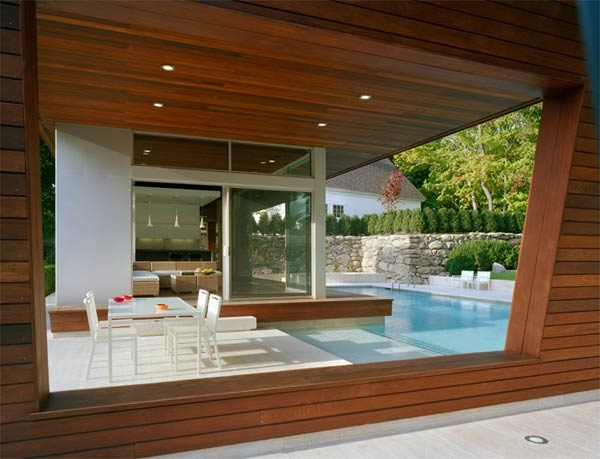 Modernist Pool House
