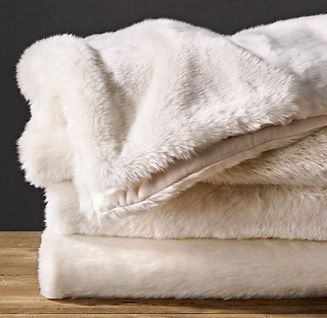 Restoration Hardware Faux Fur Throw