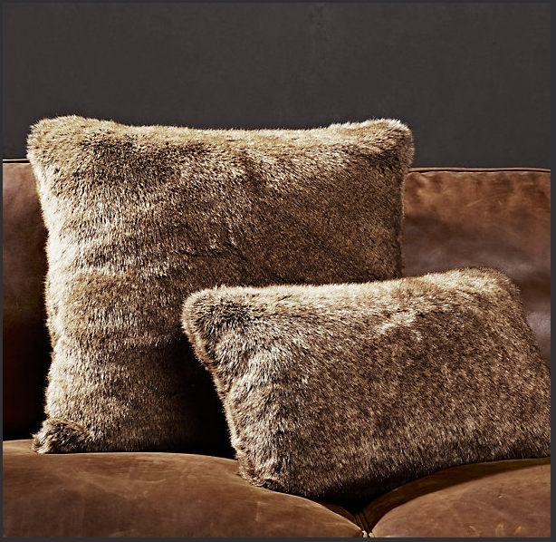 Restoration Hardware Faux Fur Pillows