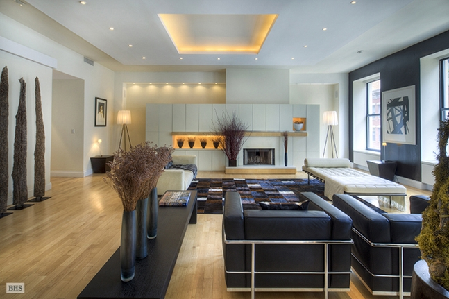 Master sitting area contemporary bedroom - The Chic Way To Loft New York New York Luxury Homes