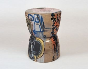 Reinaldo Ceramic Stool by Reinaldo Sanguino