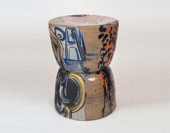 Reinaldo Ceramic Stool by Reinaldo Sanguino